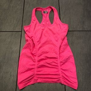 Athleta Tank Top Fastest Track Ruched Tank